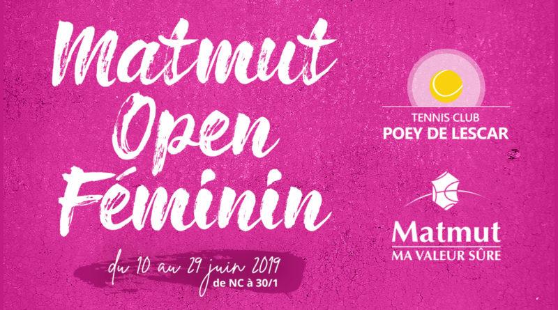 Matmut Open Féminin : les inscriptions sont ouvertes !