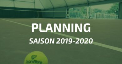 Saison 2019-2020 : planning des cours collectifs